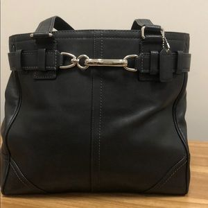 Vintage Coach Hamptons leather belted tote